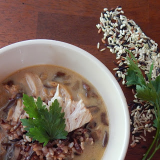 Chicken, Mushroom, & Wild Rice Soup.