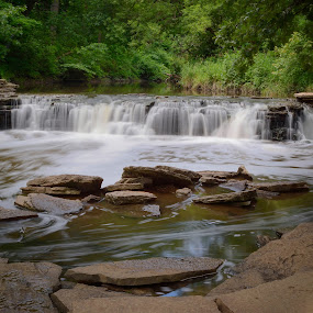 Waterfall Glen Darien, IL by Amy Ann - Landscapes Waterscapes (  )