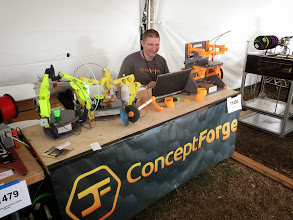 Photo: Nicholas with his RepRap Simpson and RepRap Wally, awesome machines!