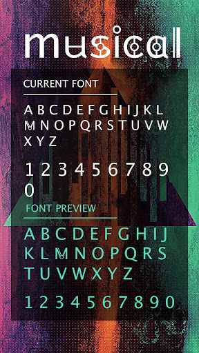 Musical Font for FlipFont , Cool Fonts Text Free ss3