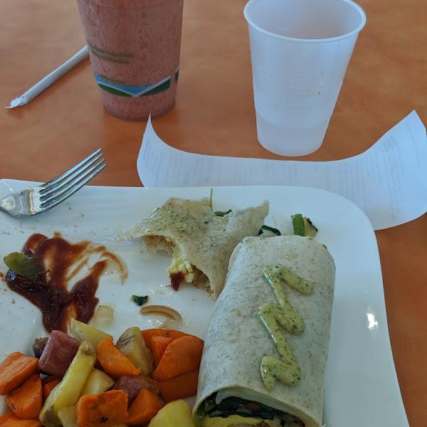 Gluten free vegetable wrap
