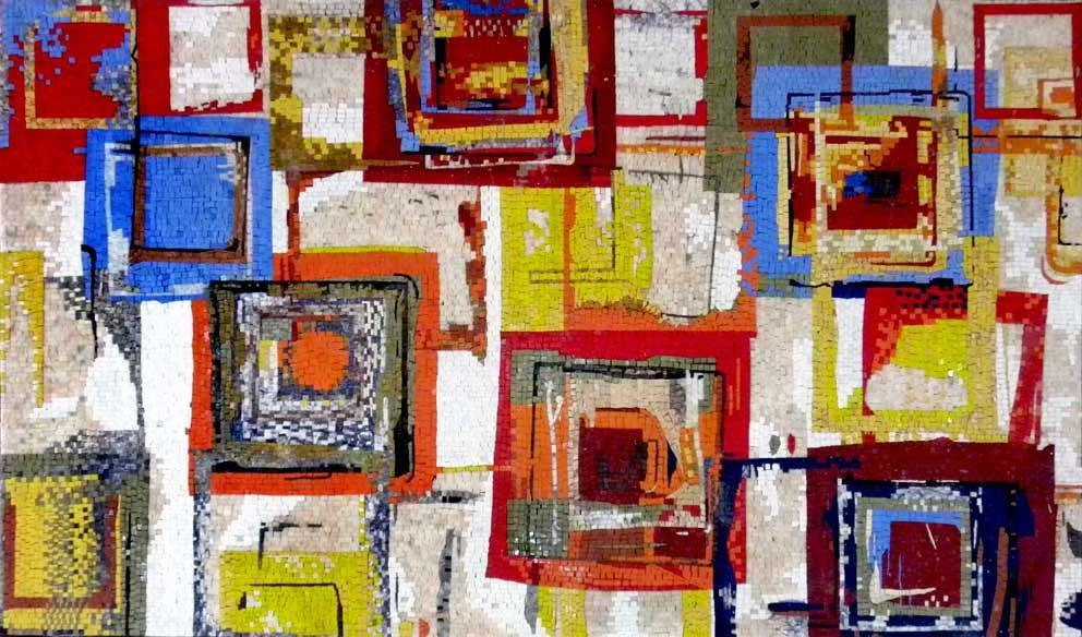 Tutti Frutti by Ricki Mountain - Abstract Mosaic Reproduction by Mozaico