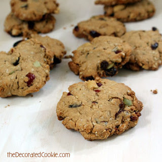 (mostly) Healthy, Oat N' Trail Mix Cookies.
