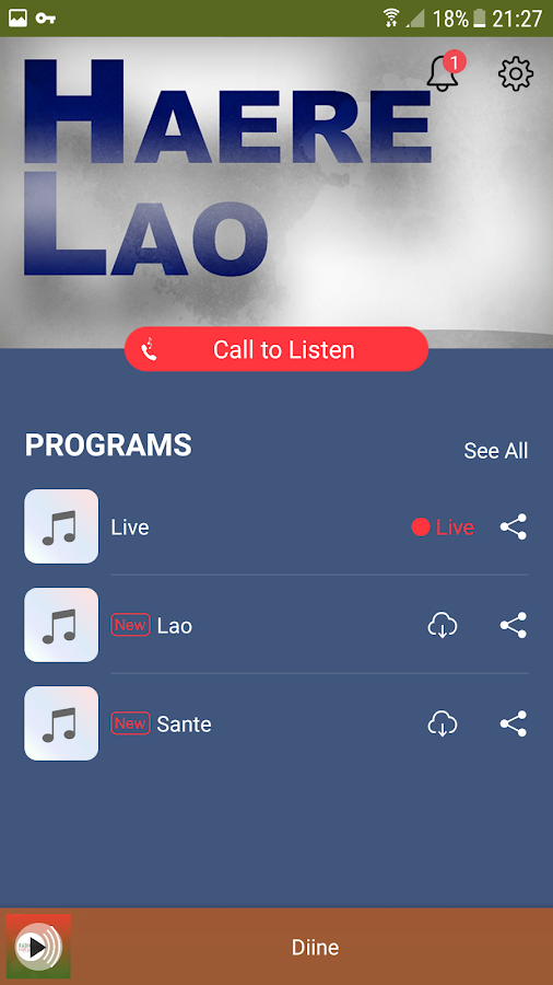 Haere Lao, Radio Fulbe Int.- screenshot