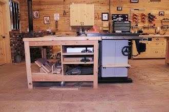 Photo: Miter gauge & jig storage