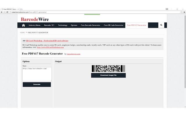 Free PDF417 Barcode Generator