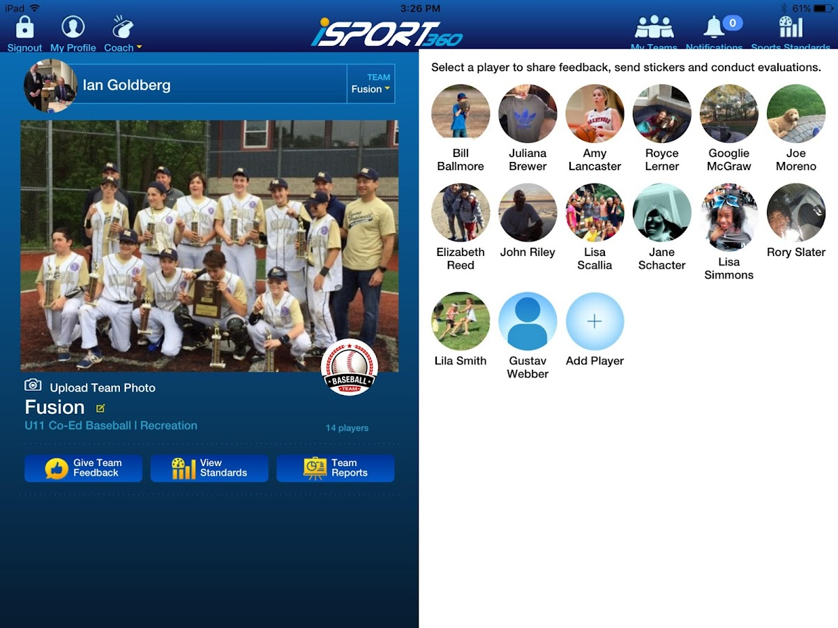 iSport360 for Youth Sports- screenshot