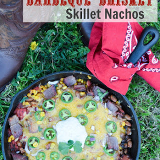 BBQ Brisket and Bean Skillet Nachos