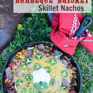 BBQ Brisket and Bean Skillet Nachos.