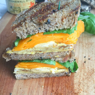 BBQ Spiced Grilled Egg and Cheese Sandwich.
