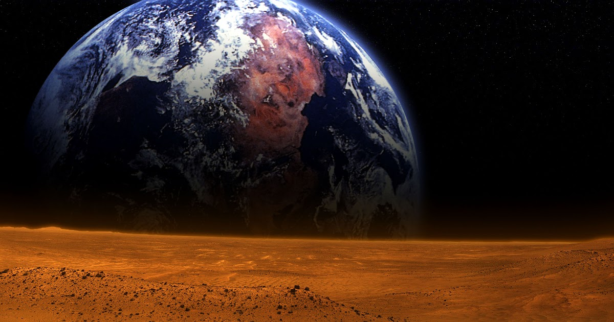 Mars And Earth Wallpaper Download