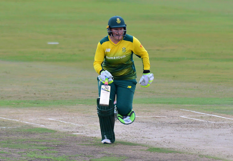 Lizelle Lee of South Africa during the 2018 Women T20 match between South Africa and India at Supersport Park, Pretoria on February 21 2018.