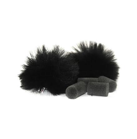 Black Lavalier Windjammer Pair - Rycote