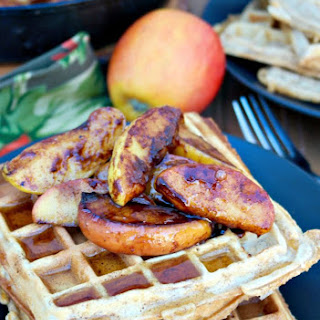 Whole Wheat Apple Spice Waffles.
