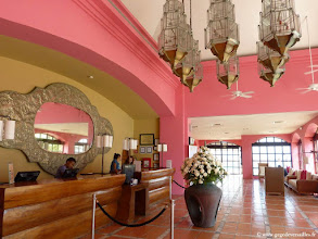 Photo: #006-La réception du Club Med Cancún Yucatán.