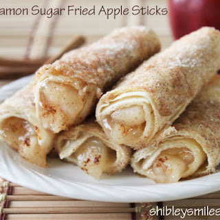Cinnamon Sugar Fried Apple Sticks