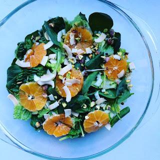 Clementine, Fennel, Pistachio & Coconut Salad