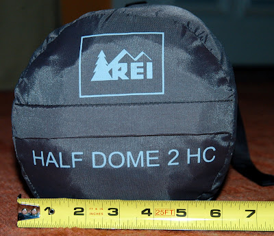 Again a bit smaller in diameter than the specs say at 6  The ends are a bit more puffed out as the compression straps are in the middle section and not the ... & REI Half Dome 2HC - Review with pics | Adventure Rider