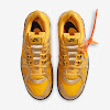 rubber dunk off white university gold