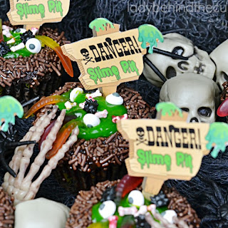 Slime Pit Halloween Cupcakes