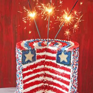 American Flag Layer Cake.