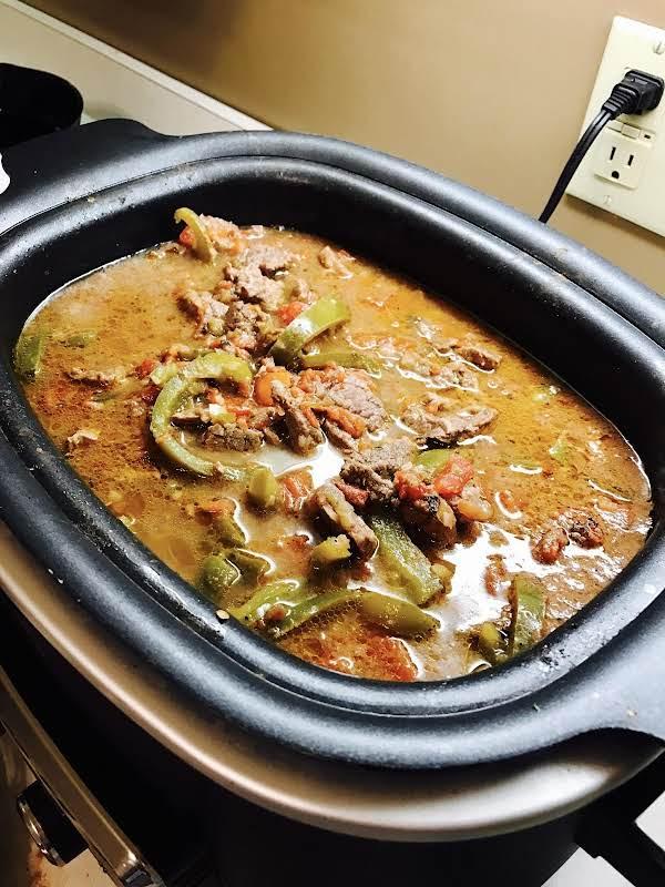 Crockpot Beef Fajitas Recipe