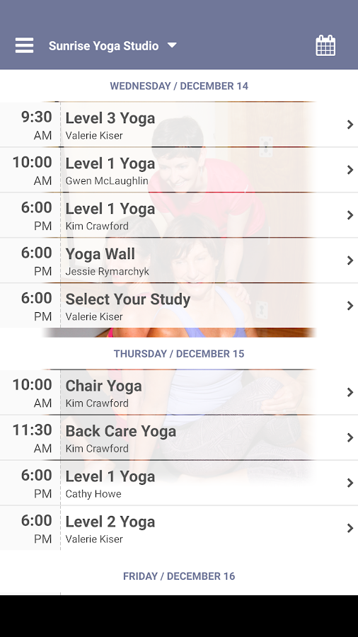 Sunrise Yoga Studio- screenshot