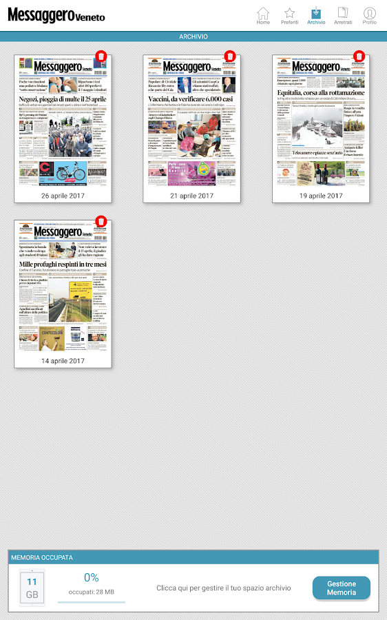 Messaggero Veneto- screenshot