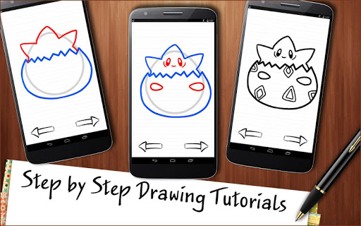 Draw Pokemons Aplicaciones (apk) descarga gratuita para Android/PC/Windows screenshot