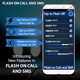 Flash on Call and SMS Automatic flash light alert - náhled