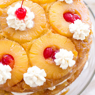 {Triple Layer} Pineapple Upside-Down Cake.