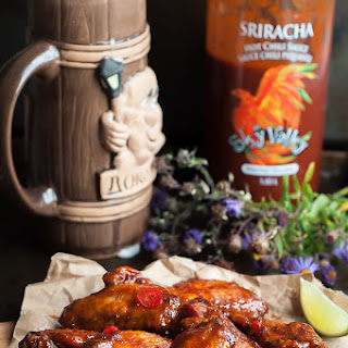 Crispy Honey Sriracha Wings Recipe