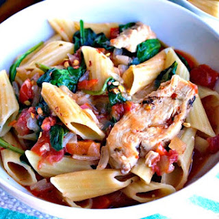 ad Italian Chicken and Spinach Pasta Skillet.