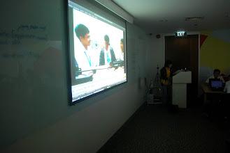 Photo: watching testimonials