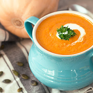 Easy Pumpkin Soup With Coconut Milk.