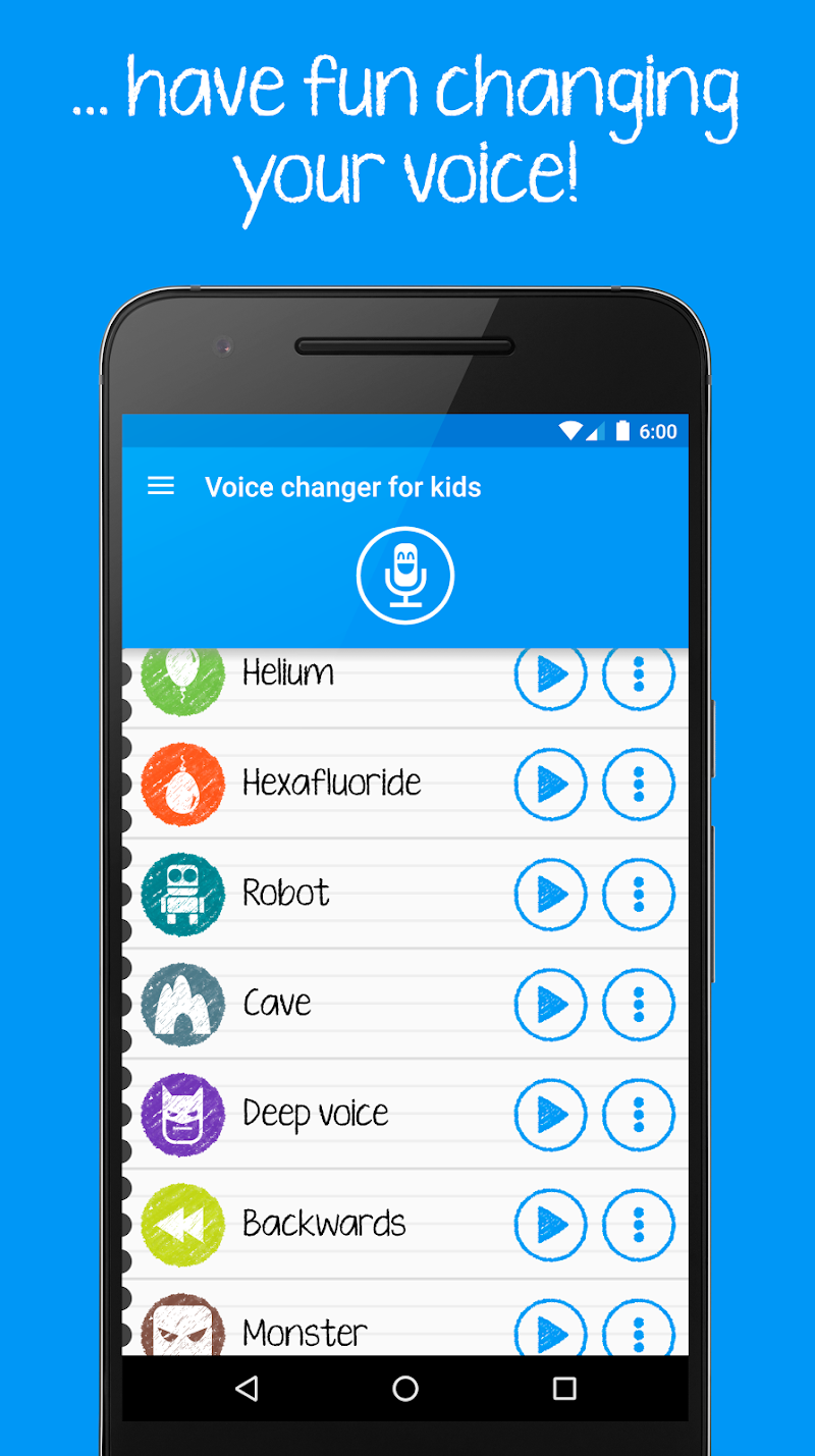 Voice changer for kids and families Screenshot 1