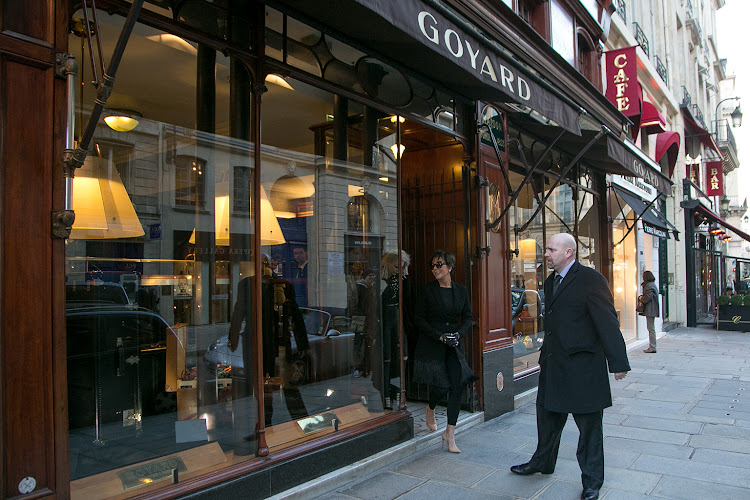'Goyard' store in the 'Rue Saint Honore' in Paris.