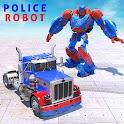 Police Truck Robot Superhero Transform Robot War icon