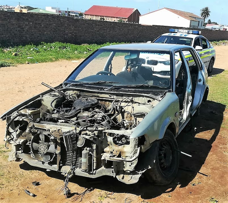 The Toyota Tazz that was hijacked was found stripped