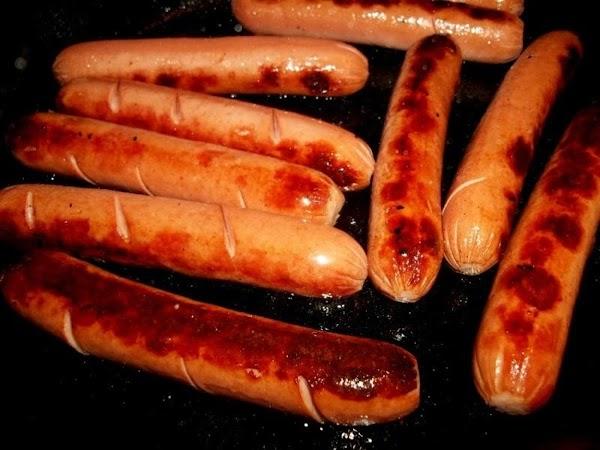Fry or boil your hotdogs. I like mine fried.