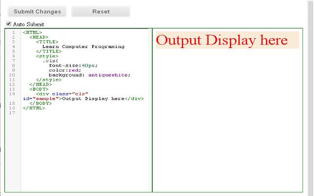 HTML CSS Live Editor