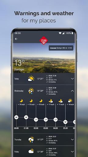 Weather Alarm: Forecast & alerts for Switzerland 5.18.2.9 screenshots 1