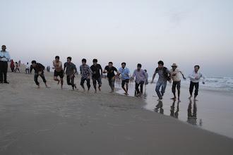 Photo: A race on the beach...