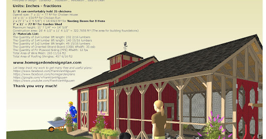 CB210 - Combo Chicken Coop Garden Shed Plans Construction