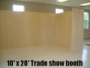 Photo: 10' x 10' Trade Show Booth