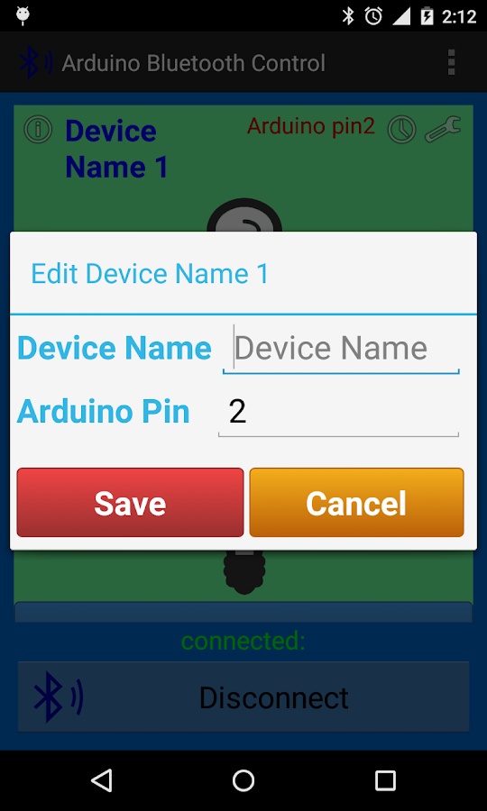 Arduino Bluetooth Control- screenshot