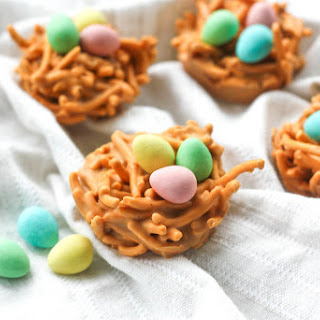No Bake Butterscotch and Peanut Butter Bird's Nest Cookies #Recipe