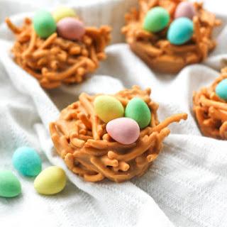 No Bake Butterscotch and Peanut Butter Bird's Nest Cookies #Recipe