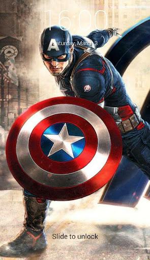 Captain America Lock Screen