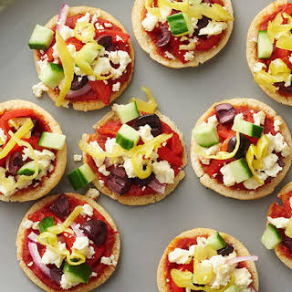 Mini Greek Pita Pizzas.